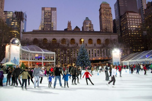 "Throughout January, Citi Pond® at Bryant Park™ — NYC's first and only free-admission skating rink — offers library cardholders who are 17 and under a reduced skate rental price of $10 per rental (a 30% discount from the usual $14) as part of its ""Read To Skate"" program. To get the special $10 rental price, skaters must show their New York City library cards (from The New York Public Library, Brooklyn Public Library or Queens Library) to rink staff at the Citi Pond Skating Pavilion, located in Bryant Park, on 40th Street between Fifth and Sixth Avenues."