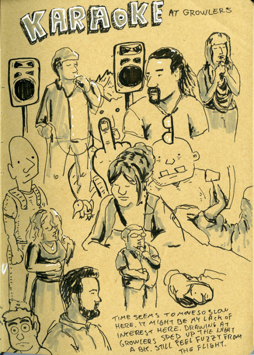 Some sketches at Social Suicide, Karaoke night at Growlers Pub.
