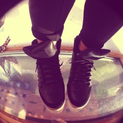 New fisheye lens for my iPhone and new hi tops to take a picture of (also this looks like I'm standing on a window) #fashion #instafashion #lens #photography #shoes #shoeporn #fisheye #hitops