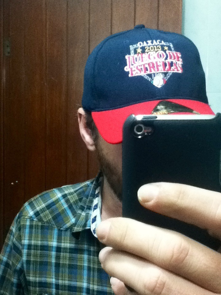 My new cap. Oddly, even though New Era was one of the sponsors of the Mexican All-Star game, the caps on sale in the store at the park were made by a company called Elsiglo.