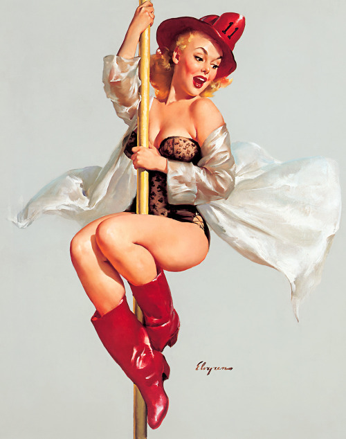 gil elvgren - fire belle (always ready) 1956