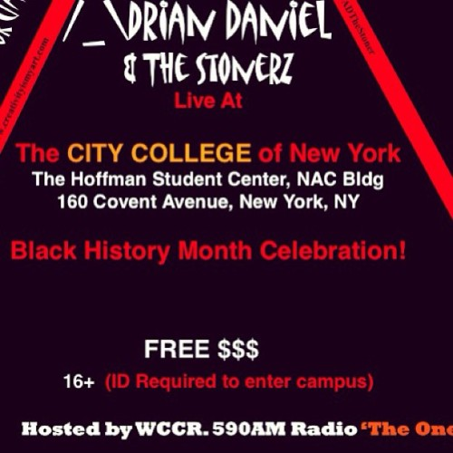 Tomorrow Night in Harlem I'm live. Show starts at 7pm. Come Thru