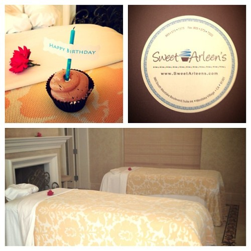 And @BillRancic's bday weekend continues…cupcakes and couple's massages:) @FSWestlake @SweetArleens @CHLI360Health