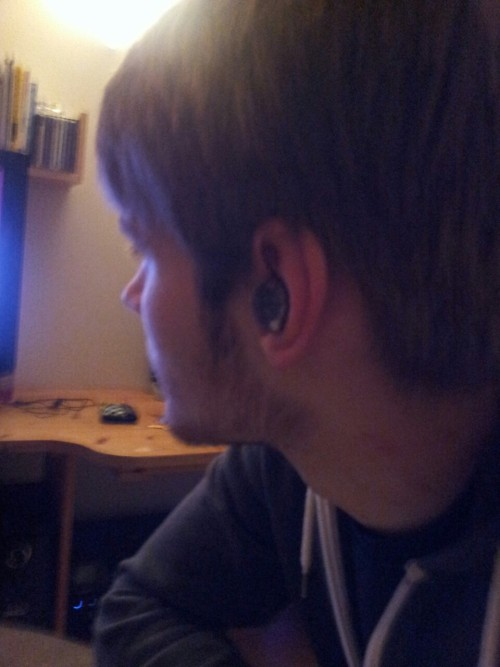 I just put a fruit pastel in my boyfriends ear.  Annoying him to a whole new level.