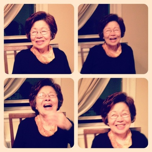 denisekim:  This'll make anyone smile ;) my grams #love (shh dont tell her about this …)