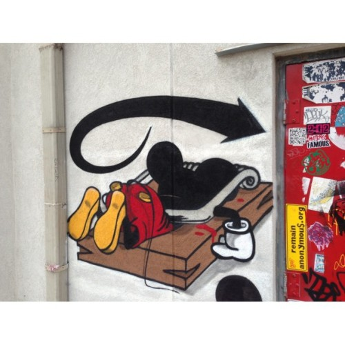 Houston #streetart #graff #graffiti #disney #mickeymouse #art