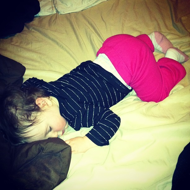 She is one tired little girl… 😴😊😘
