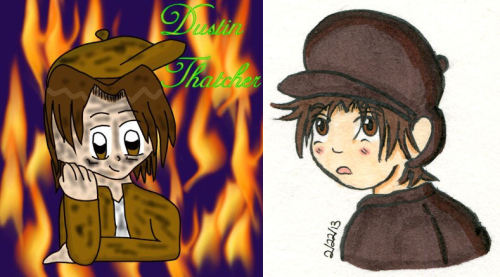 Two drawings of Dustin Thatcher I've done. Left: 12/30/2004Right: 2/22/2013Never stop practicing. Your art will get better, no matter how bad you feel about it right now. Just keep working to improve, and you will.