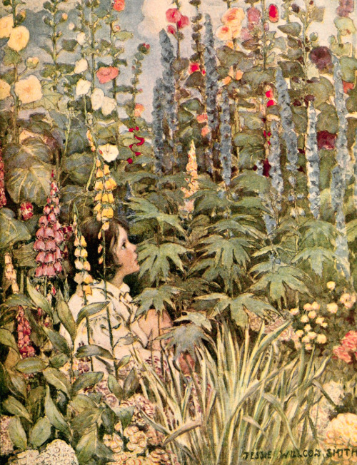 saveflowers1:  Art by Jessie Willcox Smith (1905) from R. L. Stevenson's A CHILD'S GARDEN OF VERSES.