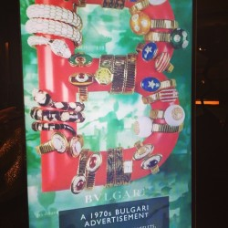 @bulgari_us vintage advertising. ML #nyfw