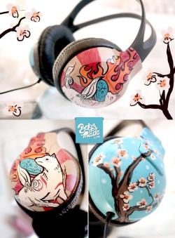 gamefreaksnz:  Sakura tree X Okami headphones