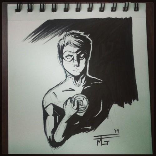 What do you think guys? Am I blank cover worth it? #greenlantern #dccomics #myart #drawing #doodling #inking #haljordan #comics #comicbooks #superheroes @art_support