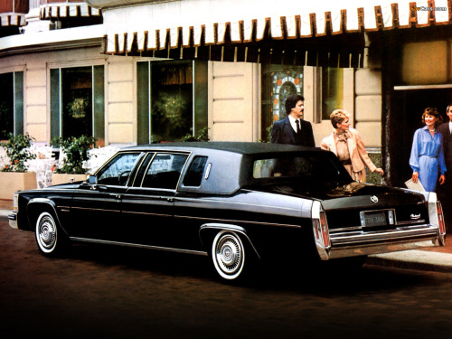 1984 Cadillac Limousine… last year of the factory-produced RWD limo.   I think it would be cool if someone updated an '84 with the styling bits from the 90-92 end-of-the run Fleetwood Brougham sedan, and also the mechanical pieces like the 5.7L FI V8, etc. Anyway, I always like the classic 6-light limo profile.