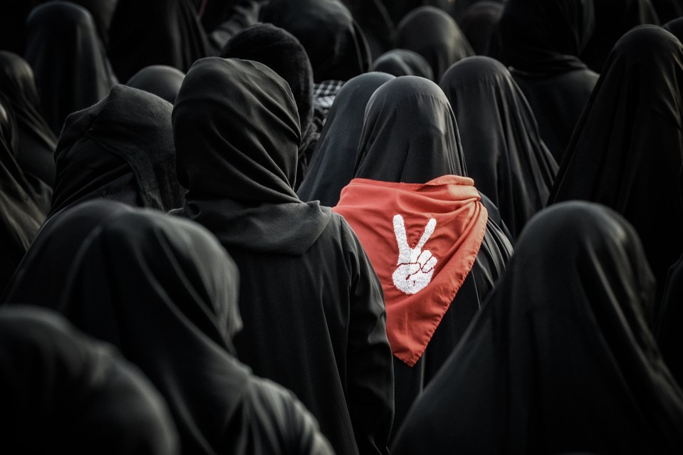 Shiite women mourned Habib Ebrahim Abdullah in Malikiyah, Bahrain, Sunday. Mr. Abdullah, 88 years old, died after developing respiratory complications. His relatives said his death was due to the inhalation of tear gas that police used during a 2012 protest. (Photo: Mohammed al-Shaikh / AFP-Getty via The Wall Street Journal)