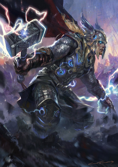 timetravelandrocketpoweredapes:  Thor by Wen-Xaeroaaa