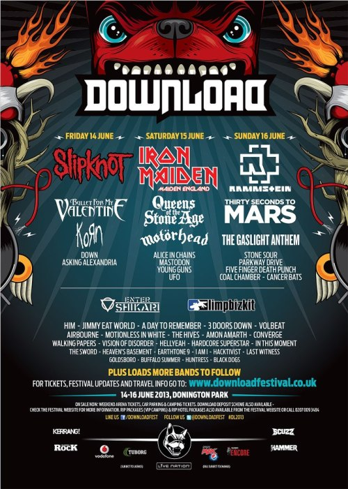 entershikari:  DOWNLOAD FESTIVAL POSTER UPDATE! We are now headlining the 2nd stage on Saturday, so here's the new poster. WE WILL NOT CLASH WITH IRON MAIDEN, WE FINISH 10-15 MINUTES BEFORE THEY START!    brb going to cry for the rest of my life now.