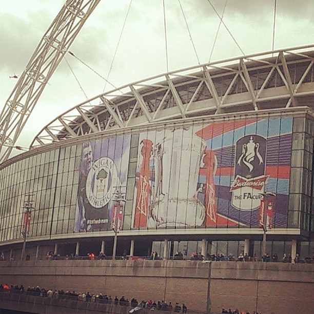 Come on Wigan! #tothedream (at Olympic Way)