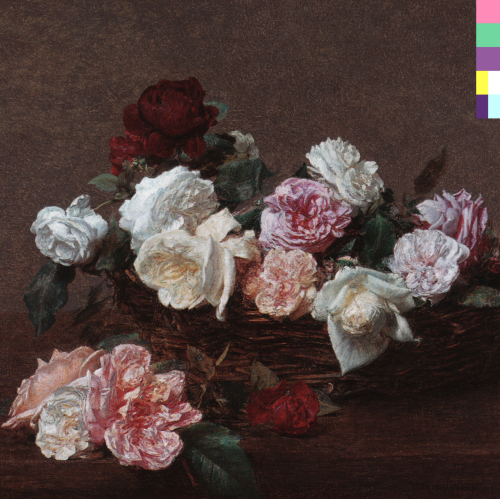 Peter Saville's sleeve design for New Order's Power, Corruption and Lies.