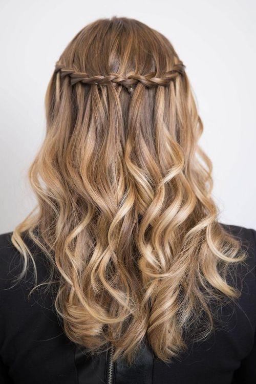 Waterfall Braid Hairstyles | Tumblr
