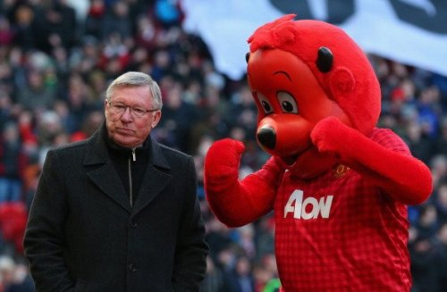 SIR ALEX FERGUSON with CUTE RED DEVILS