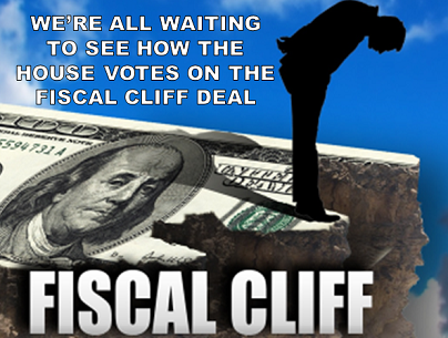 Fiscal Cliff Update: The Senate has passed a bi-partisan agreement and it is now awaiting a vote in the House of Representatives. The bill includes a renewal of Bush era tax cuts for Americans making less than $400,000, and an extension for 2 million Americans on unemployment insurance, however it puts off discussion on the debt ceiling and the sequester for two months. Read more about the fiscal cliff deal here, and what it means for us if the legislation isn't passed, then tell us your opinion. LIKE if the House should pass the bill & REBLOG if the deal still needs more work.