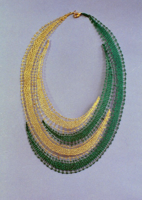 "Artwork of the Day (http://ncpr.org/artwork): Lace necklace. Artist: Radmilla Zuman. The St. Lawrence County Arts Council wil hold a ""Meet the Artists"" reception and arts market Friday from 2-6 in Potsdam's downtown Snell Hall."