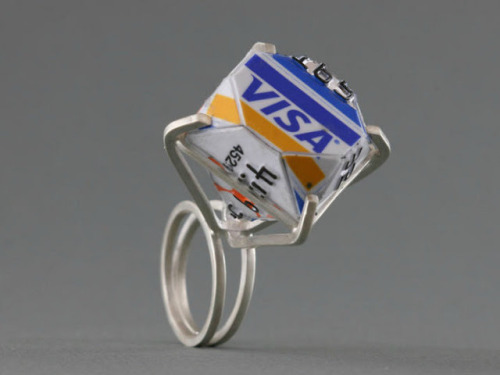 burnworks:  MAKE | Diamond-Shaped Rings From Old Credit Cards