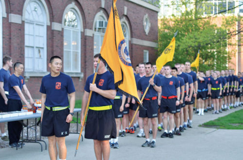 By Folake Osibodu, The Daily Illini The Fighting Illini Battalion returns to the Armory from its Battalion Run before the presentation of awards to this year's cadets on Wednesday morning.