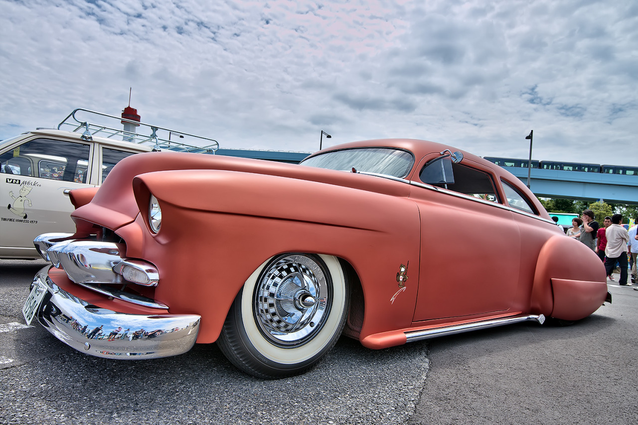 1950 Chevy hotrod at the Mooneyes car show in Tokyo today.