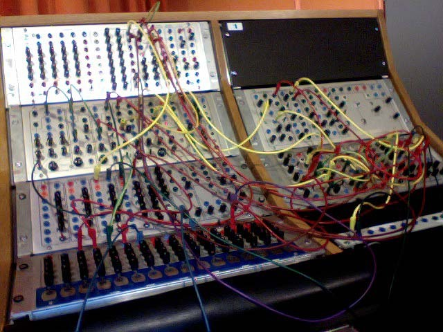 More electronic fetishism - I am currently installed as guest composer in a residency at the Elektronmusikstudion (EMS) in Stockholm where I am working on the Serge Modular Synthesizer with Daniel Araya. Tomorrow moving onto the Buchla with Jonas Broberg. Here's the current patch on the Serge.