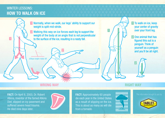 How To Walk On Ice Like a Penguin