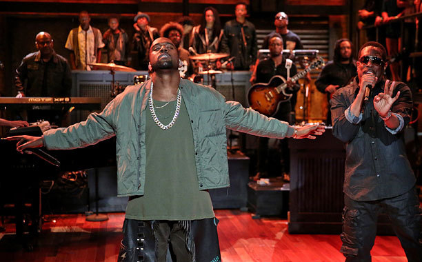 Yeezus performing Bound 2 with Charlie Wilson on Jimmy Fallon