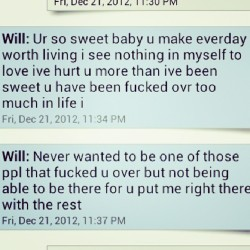 I miss getting texts like this from my baby . He's been gone too long :'c