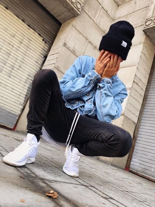 kian lawley trippy sneakers jean jacket beanies glitch