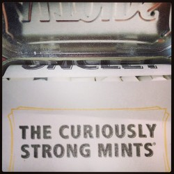 Love the smell of a fresh tin #altoids