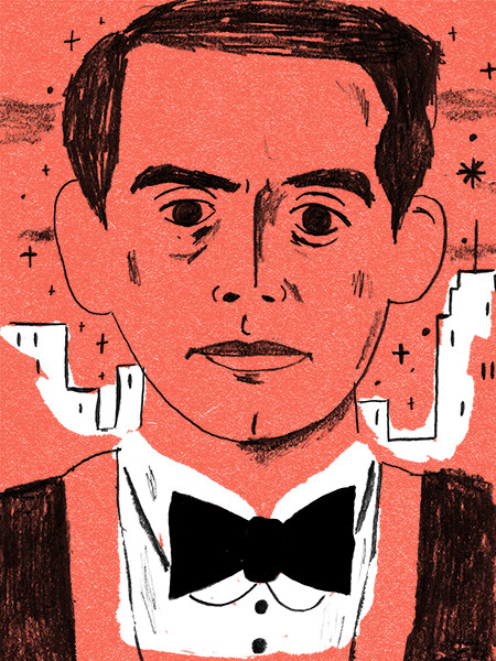 A portrait of Federico García Lorca for the New Yorker