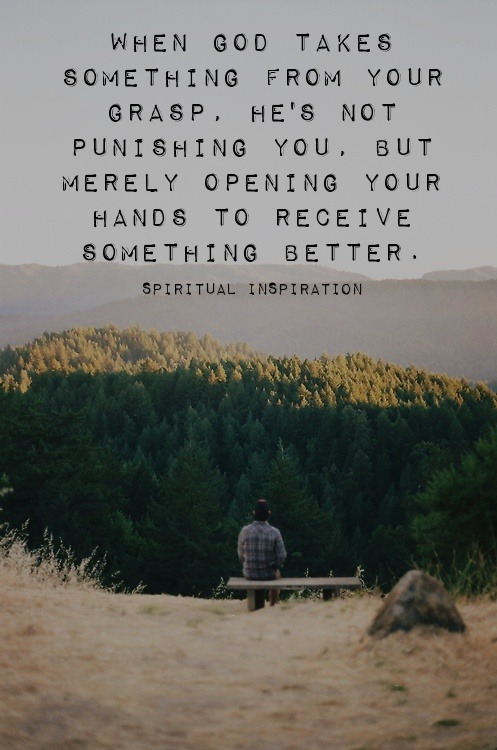 "spiritualinspiration:  In life, we all go through a pruning process. God will prune our lives so that we can bear much fruit. To ""prune"" means something is cut away, something is removed. In other words, maybe a good friend that you counted on moved to another city. Maybe a business shut down that you were connected to, or a relationship went a different direction. Friend, God knows what you need in your life in order to grow and flourish. Sometimes when things happen that we don't understand, we have to just trust that He is working behind the scenes preparing you for increase, preparing you to go to another level. Don't put a question mark where God has placed a period. When you're going through transition, don't get bitter. Don't get down and think it's the end. Don't start thinking that you're a failure. Have the attitude, ""God, I let this go knowing that it was only temporary provision, and what You have in my future will be greater than what I'm letting go of."" If you will accept the change and stay in faith, God will open new doors. He will bring new opportunities, new friendships, and take you to another level of His glory!"