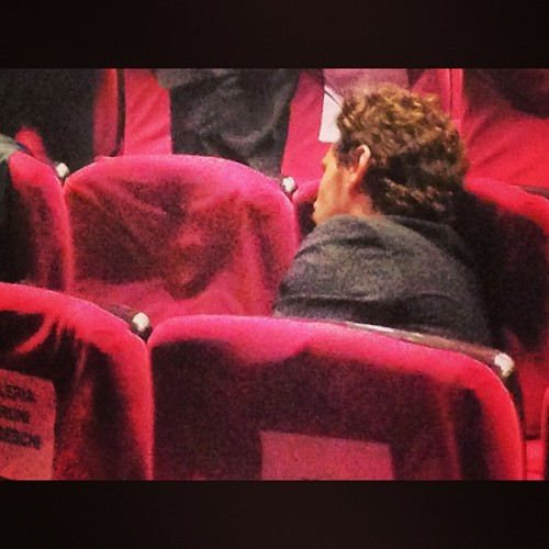 James Franco, seemingly asleep, at Cannes today.