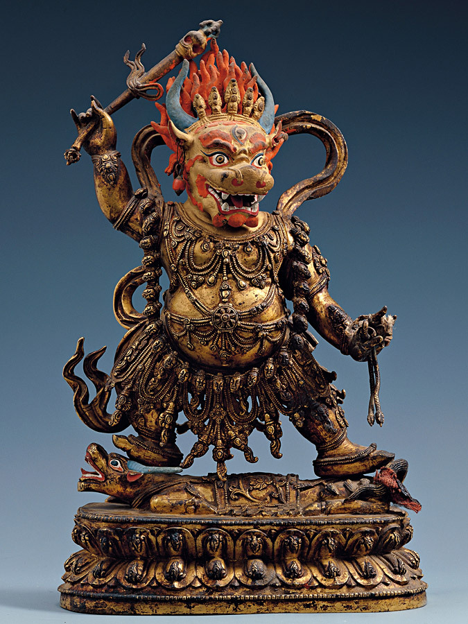 daypotato:  loresseintes:  Yama (यम) or Yamarāja (यमराज) is the god of death in Hindu mythology. Yama is said to have been the first mortal who died. By virtue of precedence, he became the ruler of the departed.  Looks more like Yamantaka to me but whatevs.