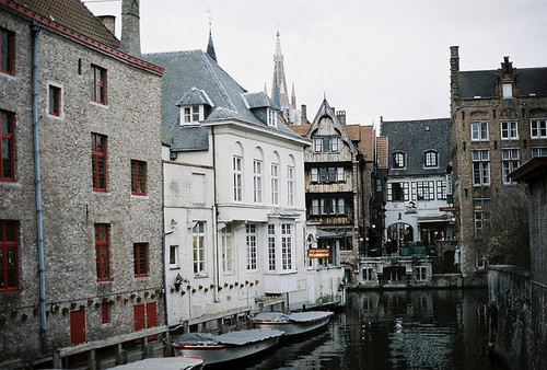 The Canals and the old harbour of Bruges, Brugge.