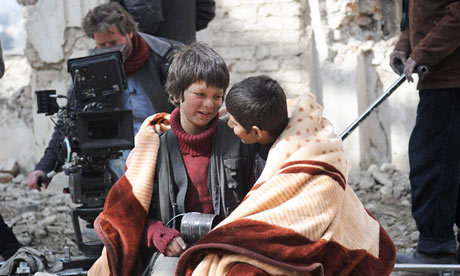 "On the set of ""Buzkashi Boys"" (2012) dir. Sam French"
