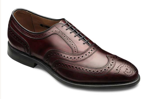 It's On Sale: Allen Edmonds Wingtips It's probably just my personal preferences, but I don't think all wingtips look great with a suit. I tend to favor wingtips with closed lacing, like the Allen Edmonds McAllister above, just because the lines look a bit sleeker when paired with a suit that's business appropriate. While not as formal as a plain captoe, it would still look good in any environment where a jacket and tie is required.  Allen Edmonds is currently having a sale on select models, offering 15%-30% off. The McAllister is on sale for $249, down from $345 with free shipping. Sale ends Monday, April 29th. -Kiyoshi