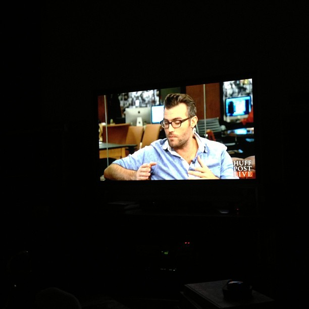 Watching my buddy @rickycams on @huffpostlive via X-Box