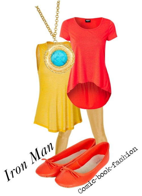 Iron Man (Casual) by comic-book-fashion  Female casual Iron Man requested by anonymous