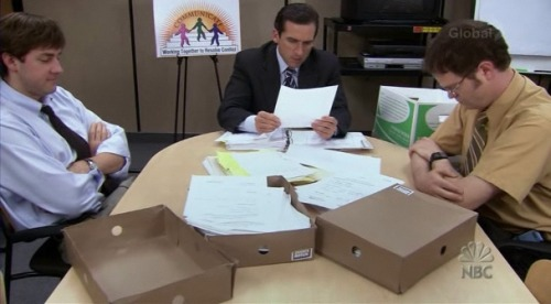 My 5 Favorite Episodes Of The Office. Conflict Resolution (221): Some many reasons why this is my favorite but mainly it was an episode that really embraced the entire cast and aired out all the things we had come to expect from the show - Jim's pranks, Michael's awfulness, Pam's engagement, Angela being Angela - and somehow made them more enjoyable. Dinner Party (409): Jan, Jan, Jan a thousand times Jan and Michael's destructive relationship. Also, this was one of the rare truly awkward episodes reminiscent of season's cringe-worthy moments but in a good way. The Dundies (201): After a bumpy first season, the show returned with tons of ammo - giving us all the Michael Scott we could hate and giving us the first truly sweet moment between Jim and Pam. A Benihana Christmas (310): The war of the Christmas parties bonded Karen and Pam much to Jim's dismay. We got to see the Party Planning Committee fully explode and the first glimpse of Ed Helms' amazing talent. Basketball (105): The first time we saw the true potential of this show. BONUS: Goodbye, Michael (722): Michael Scott's departure from the show was amazing because you could finally appreciate how fully realized his character was and something more than Ricky Gervais was ever able to do with his Brit version of the office manager.