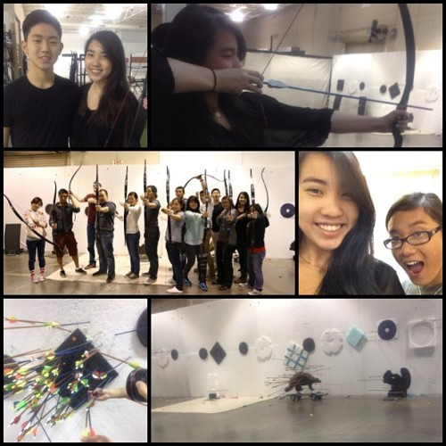 Archeryyyy 🎯😁 #firsttime #yad #archery #bow #arrow #pga #asiankatnissobvi @kimhyunnie @jasonlin69