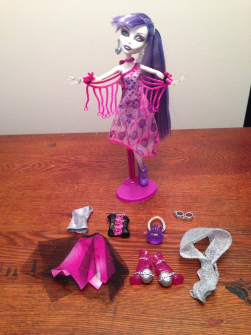 I am beginning the process of liquidating my entire Monster High collection. I will be posting group pictures of available dolls and fashions/accessories. If you are interested in purchasing any items posted, send me an offer.  I have enjoyed collecting these dolls the past few years. I am moving to a smaller space soon and no longer have room for these dolls. They have all been very well cared for. The more you buy, the better of an offer I will accept. Thanks for checking them out, any questions PLEASE feel free to ask!  I would like to sell the dolls as is. In the fashions they are currently dressed in. Each doll will include the stand that they are currently displayed on in the photos as well. I am not asking for much, I just need to sell these off. I wanted to offer them to the Tumblr MH community first. They will most likely make their way to eBay in 2 weeks. I am willing to sell individual fashion pieces and/or accessories BUT would prefer selling entire sets. When you send me your interest, please include a dollar amount offer. Low ball me, who knows, it might be exactly what I am willing to sell for. Also, only shipping in the United States. Sorry overseas friends, I do not think any of these would be worth the shipping costs.