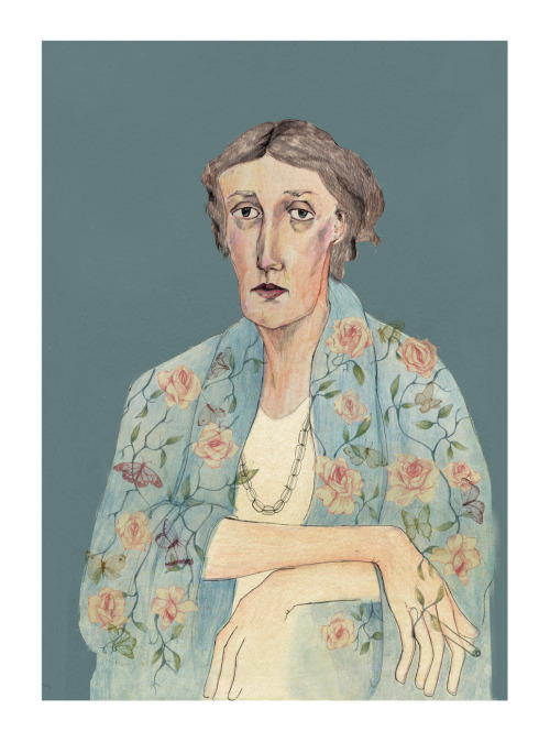tumblropenarts:  Virginia Woolf portrait by Bett Norris www.bettnorrisdesign.com / http://bettnorrisdesign.tumblr.com