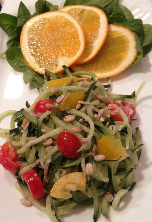 (Click here for recipe Cucumber Noodles and Tahini Dressing)
