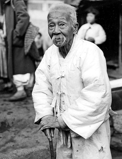 koreacorea:  Korean Elder by dok1 on Flickr. Wonderful pictures of pre-war Korea by USA photographer Don O'Brien on flickr. More pictures from this set here.